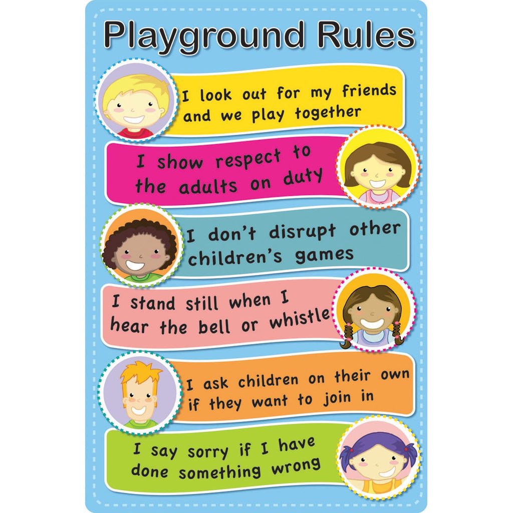 faces playground rules sign springboard supplies
