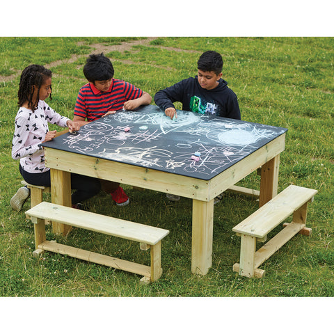 Chalkboard Table and Benches