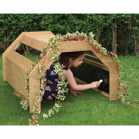 Outdoor Wooden Discovery Tunnel