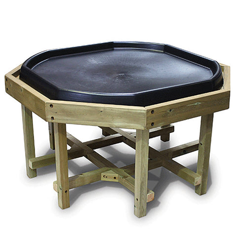 Outdoor Wooden Tuff Tray Stand (Tall) with Black Tuff Tray
