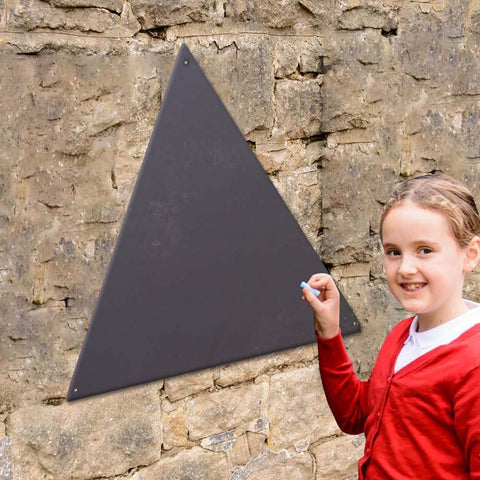 Triangular Wooden Chalkboard