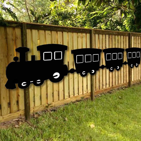 Giant Outdoor Chalkboard Train
