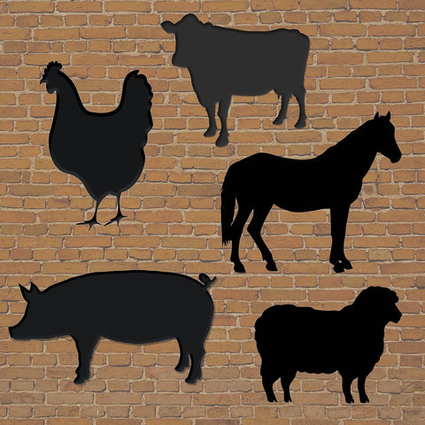 Farmyard Wooden Chalkboards pk 5