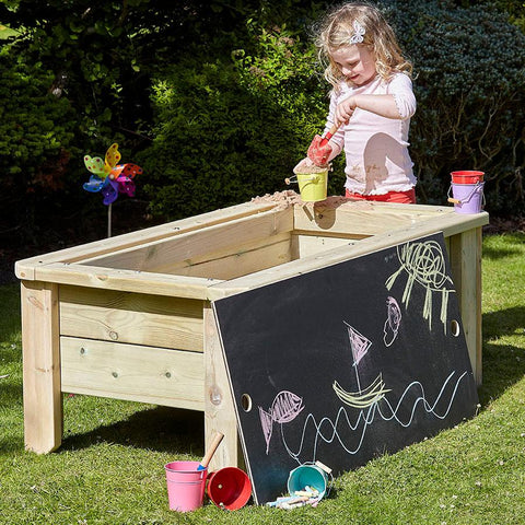 Raised Sandpit with Chalkboard Lid