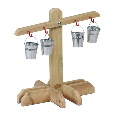 Outdoor Wooden Balance Scales
