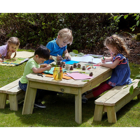 Rectangular Table and Bench Set (Pre-School)
