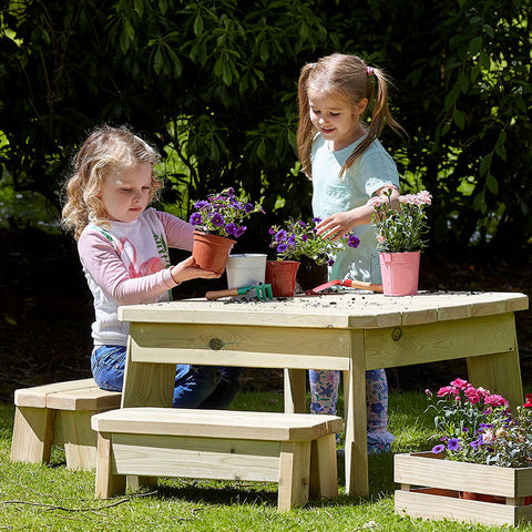 Square Table and Bench Set (Pre-School)