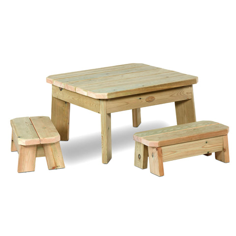 Square Table and Bench Set (Toddler)