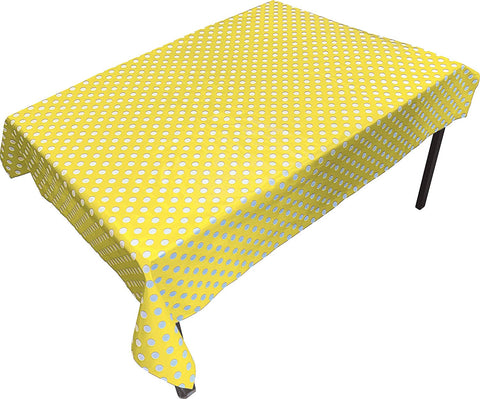 PVC Table Cover Yellow Spot - Rectangular