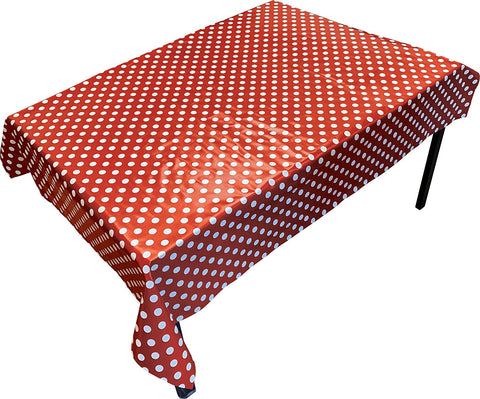PVC Table Cover Red Spot - Rectangular