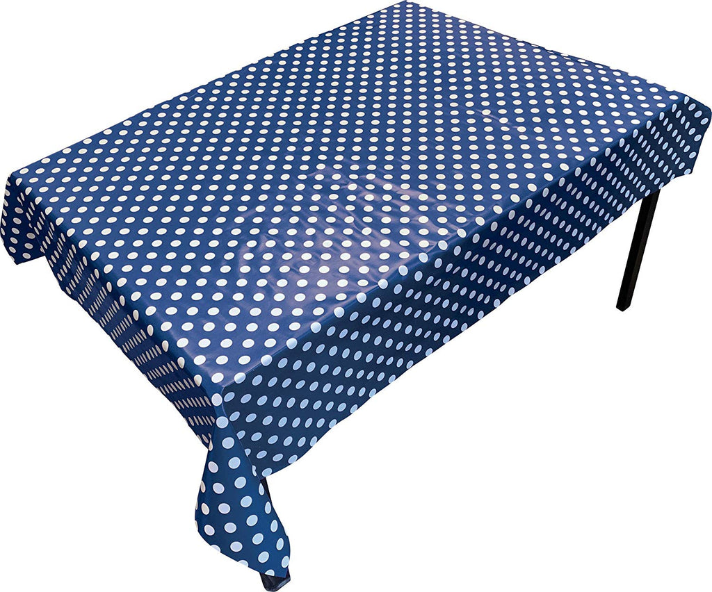 PVC Table Cover Blue Spot - Rectangular