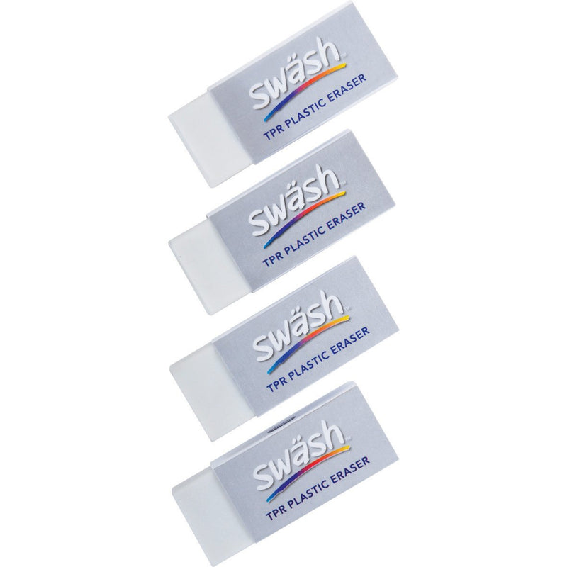 Swash-White-Erasers-pk-48