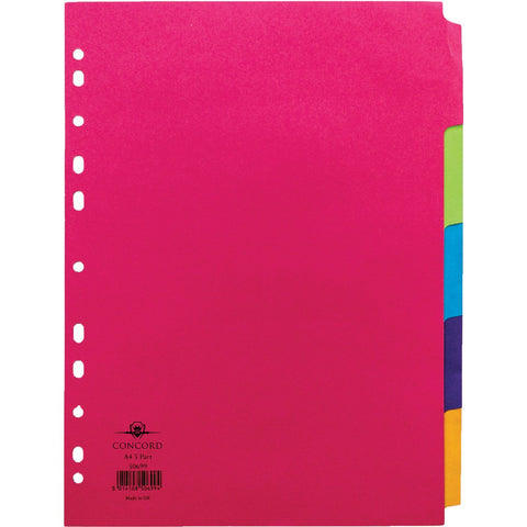 Manilla-A4-5-Part-Dividers-pk-20
