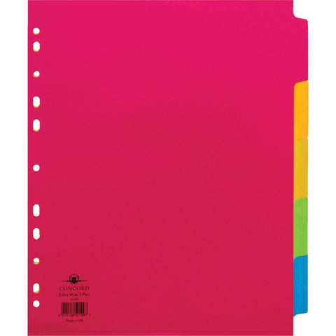Manilla-A4-5-Part-Dividers-(Extra-Wide)-pk-25