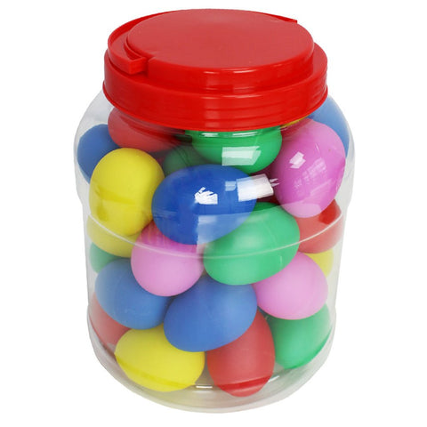 Multicoloured Egg Shakers pk 40