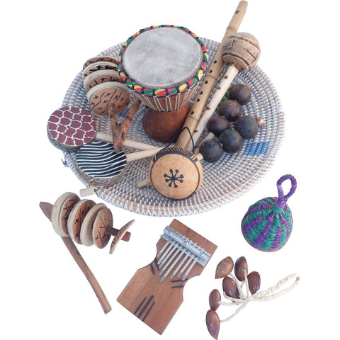 African Music Basket 13pc