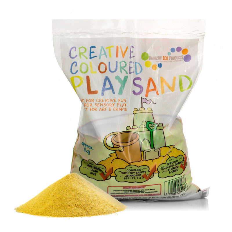 Coloured Play Sand (Yellow) 5kg