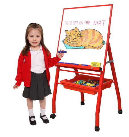 Little A-Frame Mobile Easel - Red
