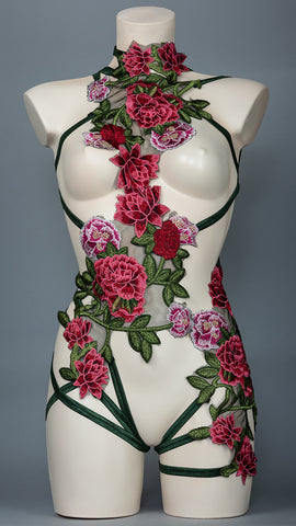 DIONYSIA - Embroidered Flower Bodycage
