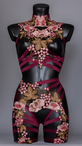 BACCHANALIA - Floral Harness Top