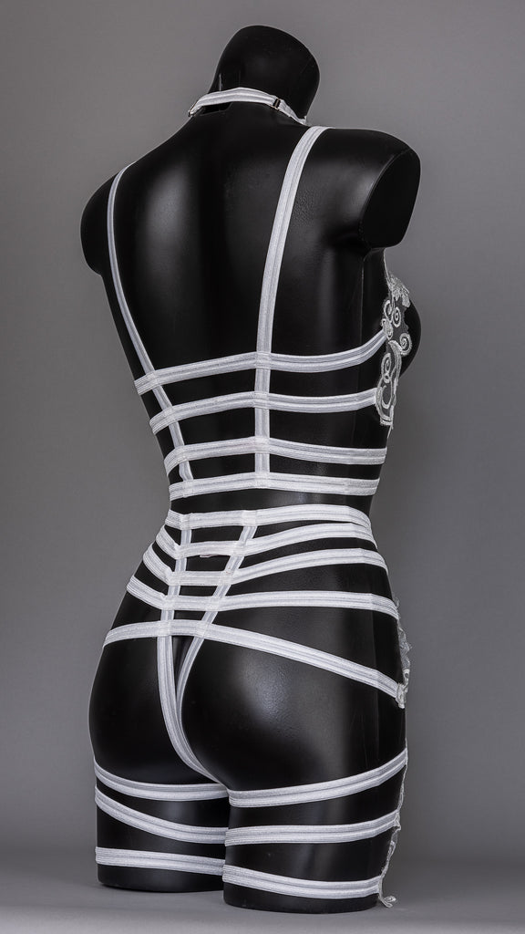 PLEASURE PRINCIPLE - Ivory Lave Cage Briefs