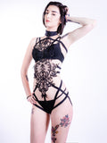 VALLETTA - Lace Body Cage Harness Playsuit