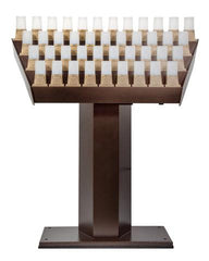 Catholic Electronic Memorial Candle Stand with Flickering Candles