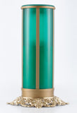 green pillar flameless electric battery operated LED memorial candle