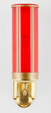 Large red flameless LED battery operated battery powered electric mausoleum candle