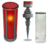 Red LED flameless wickless electric battery operated grave candle with anchor and dust cover
