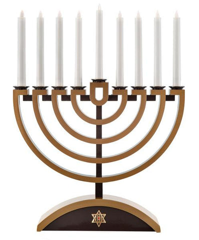 Electric LED battery powered battery operated flameless menorah