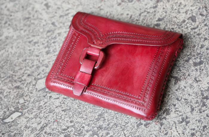 Leather Crossbody | Rojo