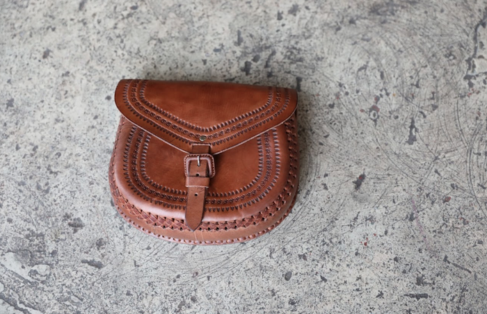 Leather Crossbody | Saddle