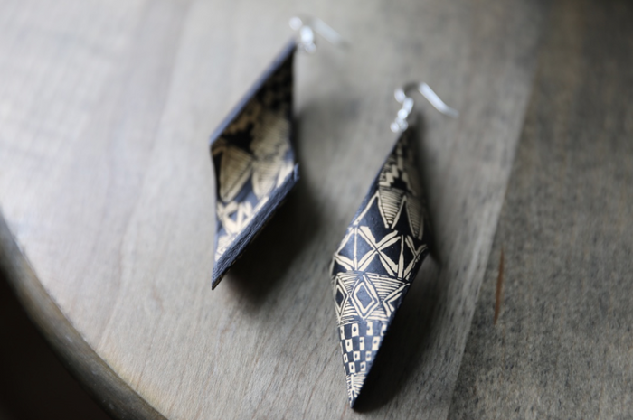 Alebrije Earrings | Negro