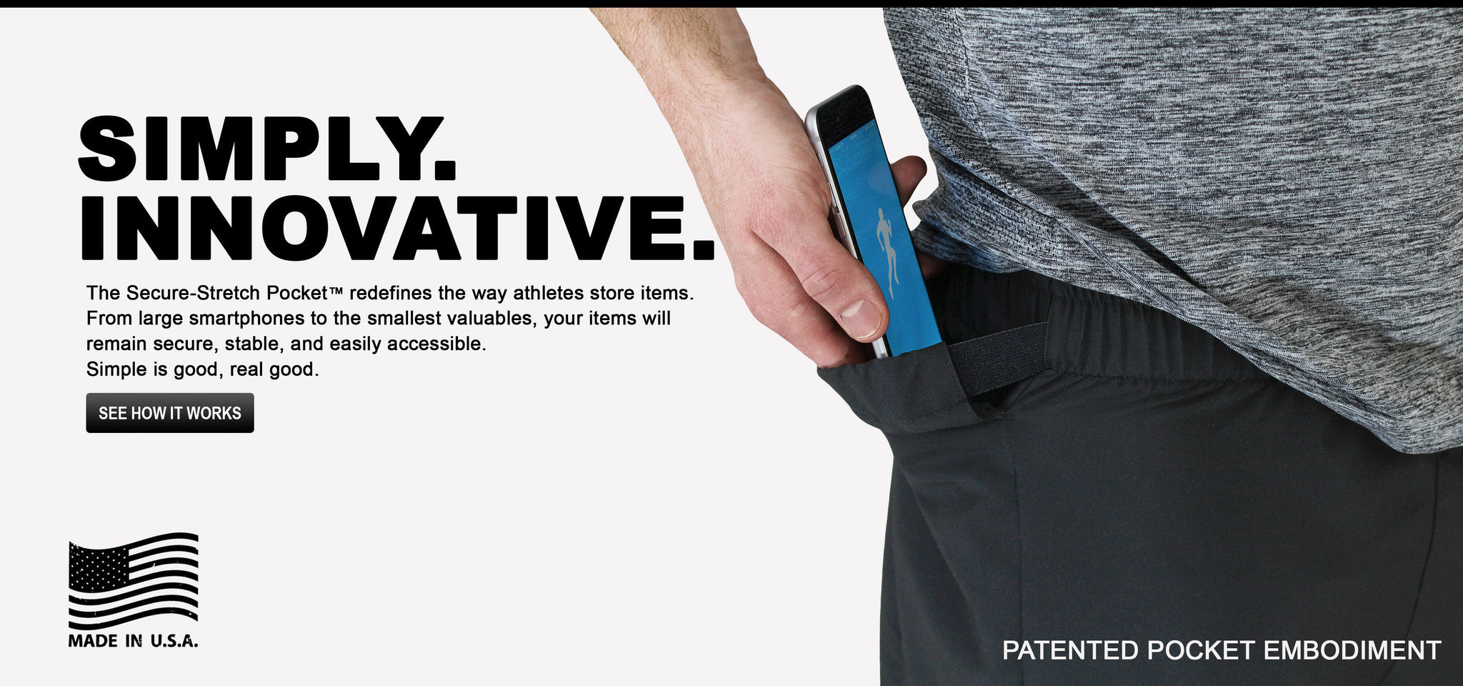 Running Shorts with Phone Pocket