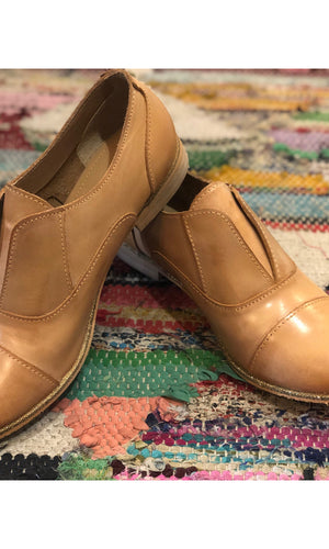 Golden Leather Oxford Shoe