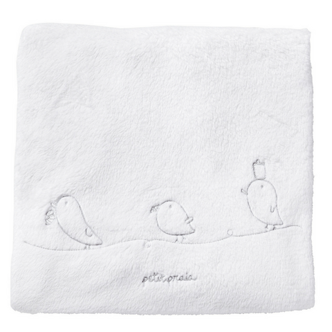 Piu Piu Fleece Blanket - White