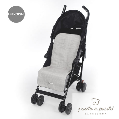 Elodie Baby Pushchair Liner grey - Amelia loves