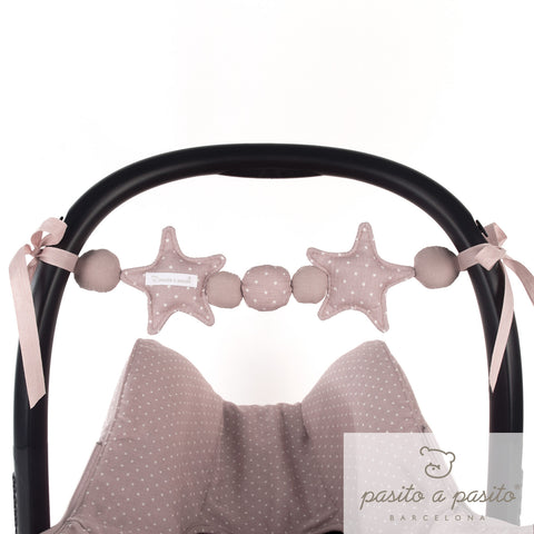 Elodie Carseat String Toy - Pink - Amelia loves