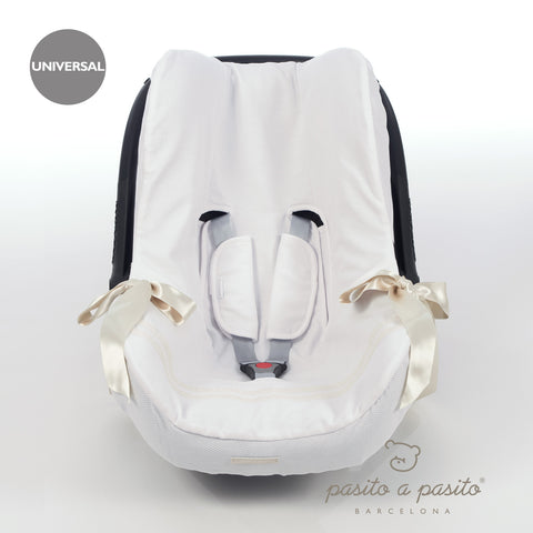 Atelier Baby Car Seat Liner White/Beige - Amelia loves - 1