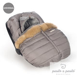 Aspen Universal Baby Car Seat Cover - Grey - Amelia loves - 2