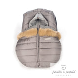 Aspen Universal Baby Car Seat Cover - Grey - Amelia loves - 3