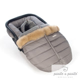 Aspen Universal Baby Car Seat Cover - Grey - Amelia loves - 4