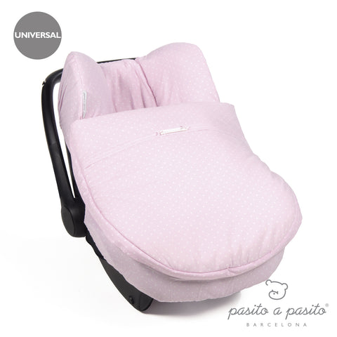 Atelier Baby Car Seat Cover Pink Polka Dot - Amelia loves - 1