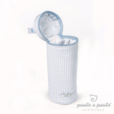Petit Etoile Bottle Holder - Blue Gingham