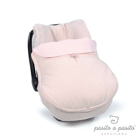 COTTON Baby Car Seat Cover - Pink