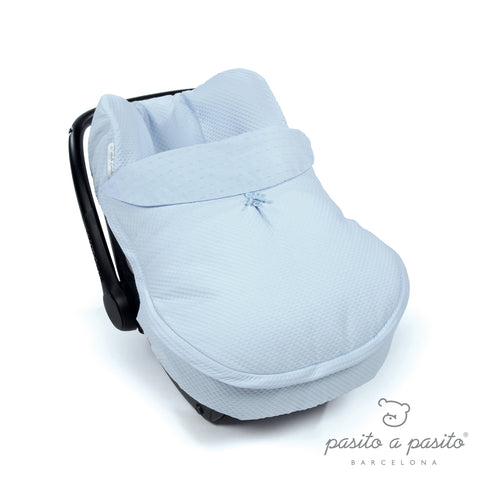 COTTON Baby Car Seat Cover - Blue
