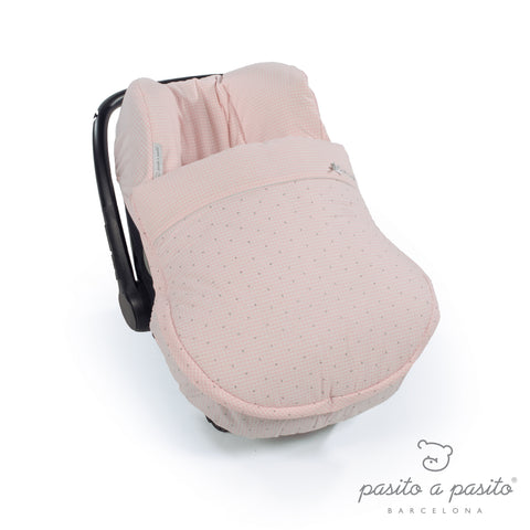Petit Etoile Winter Baby Car Seat Cover - Pink