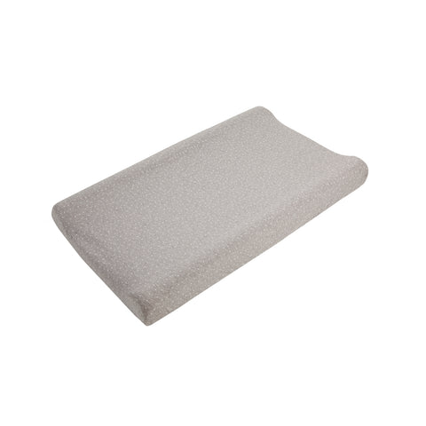 Little Star Contour Baby Changing Mat - Grey