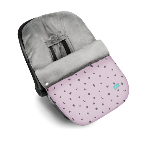 Night Sky Baby Car Seat Cover - Pink